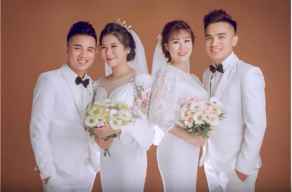 Cặp 2 anh em sinh đôi tổ chức đám cưới cùng 1 ngày này khiến dân mạng vô cùng bất ngờ.