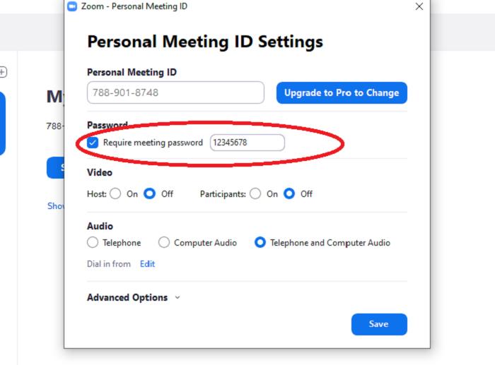 Sử dụng mật khẩu mới trong mỗi buổi học (Ảnh chụp màn hình)