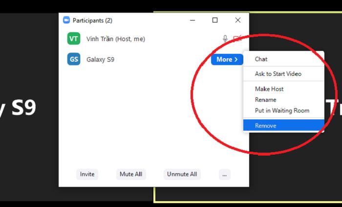 Sử dụng tính năng Remove thành viên (Ảnh chụp màn hình)
