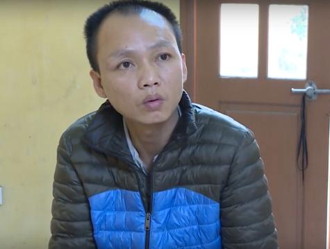 Thái Xuân Hưng tại cơ quan công an.