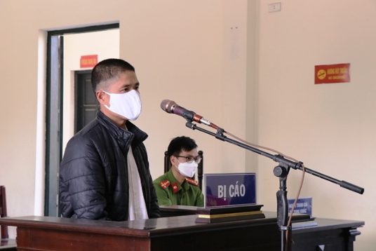 Bị cáo Nguyễn Văn Quýnh tại phiên tòa.