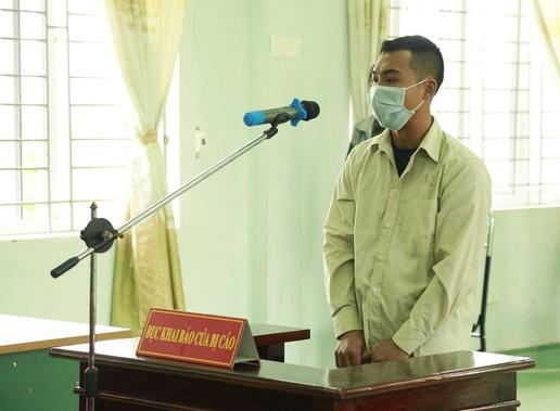 Bị cáo Đào Xuân Anh tại phiên tòa xét xử.