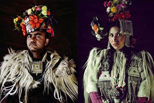 Người Drokpa với vẻ ngoài đặc trưng.