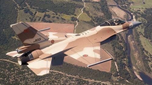 Tiêm kích F-16 Fighting Falcon của Không quân Hoàng gia Morocco. Ảnh: Không quân Hoàng gia Morocco.