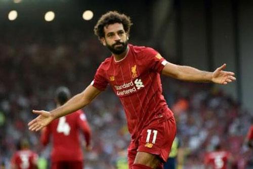 =7. Mohamed Salah (Liverpool) - 35 km/h.