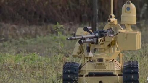 Phương tiện tác chiến mặt đất không người lái (robot chiến trường) Sharp Claw I. Ảnh: Jane's 360.