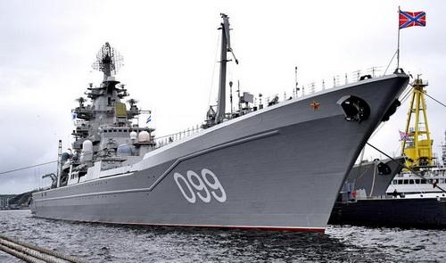 Tuần dương hạm hạt nhân Dự án 1144 lớp Orlan của Nga. Ảnh: Topwar.