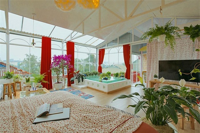 Cô gái 9x Hà Nội biến tầng thượng thành không gian nghỉ dưỡng cực đẹp - 4