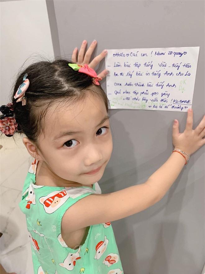 Hài hước chuyện con gái Ốc Thanh Vân 7 tuổi đã biết trả lời thư của mẹ, còn mách tội anh hai như thế này đây - Ảnh 2.