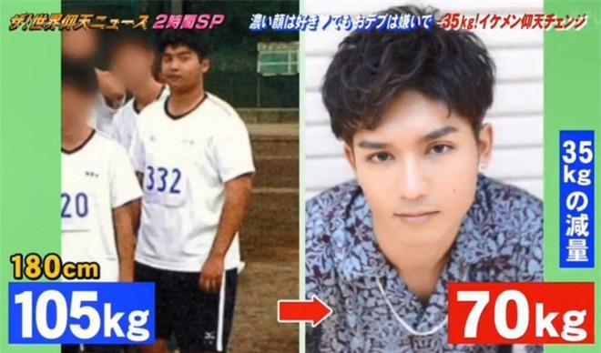 Từ 105kg xuống 70kg, chàng béo Nhật Bản chia sẻ bí quyết giảm cân sau lời từ chối phũ phàng của crush - Ảnh 1.