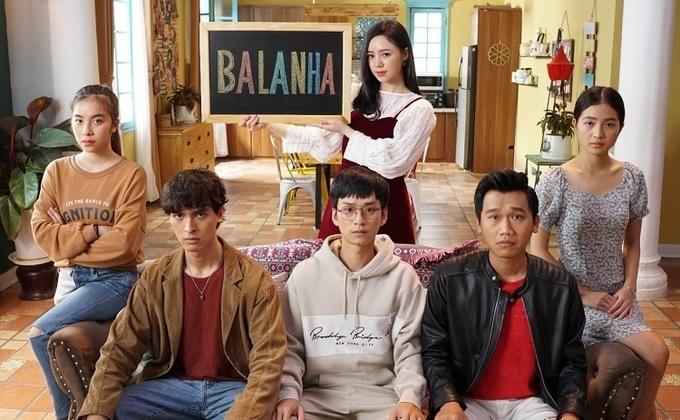 Trần Vân vào vai Nhiên 'râu' (bìa trái) trong phim 'Nhà trọ Balanha'.