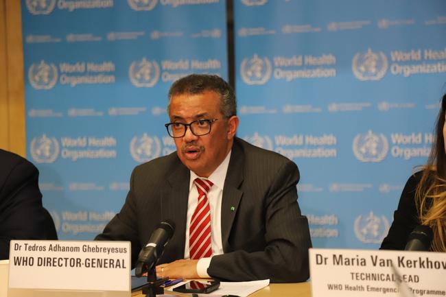 Tổng Giám đốc Tổ chức Y tế thế giới (WHO) Tedros Adhanom Ghebreyesus trong cuộc họp báo về dịch COVID-19 tại Geneva, Thụy Sĩ ngày 11/3/2020. Ảnh: THX/TTXVN