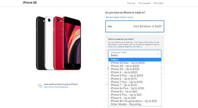 Apple cho người dùng đổi iPhone cũ lấy iPhone SE mới - Ảnh 1.