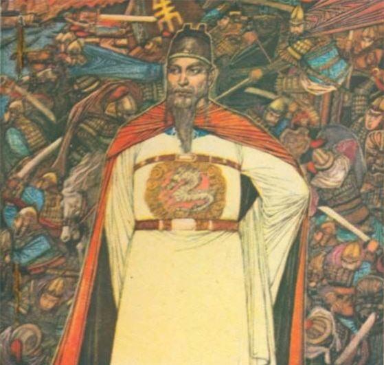 Hình vẽ chân dung Chu Nguyên Chương - Hoàng đế sáng lập Minh triều khét tiếng trong lịch sử Trung Hoa.