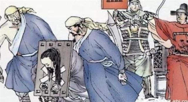 Hình vẽ mô tả cảnh quan quân bị bắt giữ trong cuộc đại thanh trừng công thần của Chu Nguyên Chương.