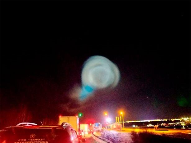 Nga: Người dân hốt hoảng ghi hình quả cầu sáng giống đĩa bay - 2