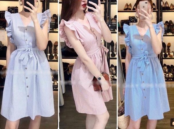 Hình ảnh chiếc váy điệu đà mà shop online đăng tải.