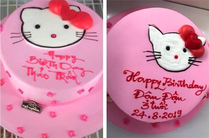 Màu sắc chiếc bánh thì giống nhau nhưng nhìn hình chú mèo thì ai cũng bật cười.