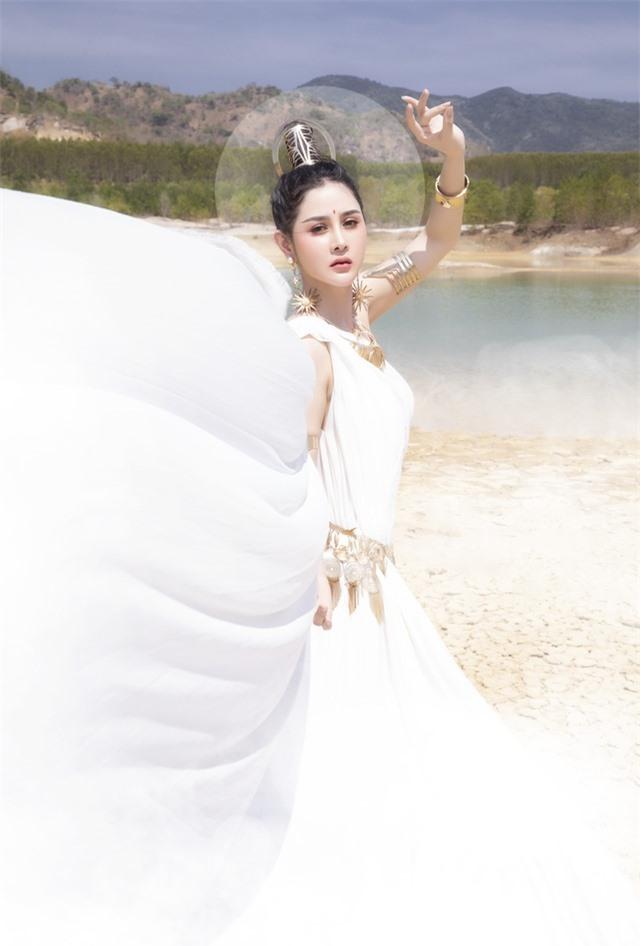 Người đẹp Triệu Hà Vy đẹp thoát tục trong bộ ảnh hóa thân nữ thần - 7