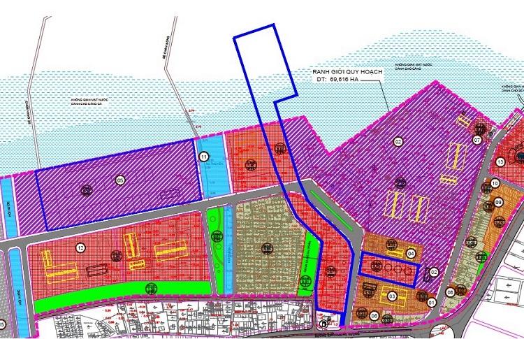 Vị trí triển khai dự án Kho xăng dầu, kho gas và trạm chiết nạp Gas tại Tân Cảng Thuận An