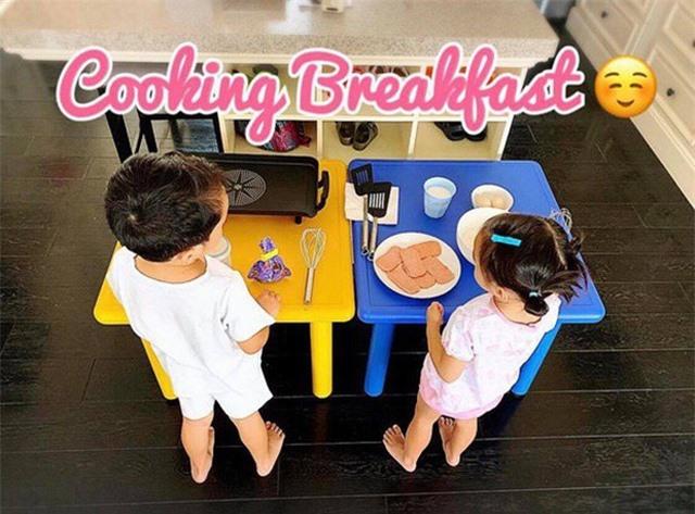Hà Tăng khiến nhiều người xuýt xoa khi nửa đêm nấu ăn phục vụ hai nhóc tỳ - 2