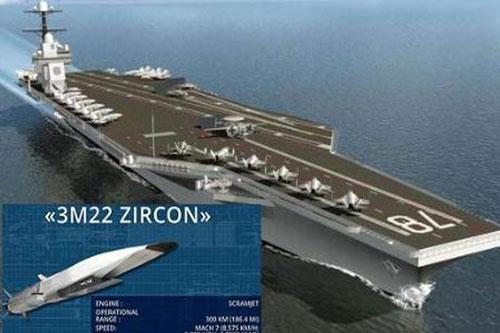 Hiện nay Nga đã bắt đầu tiến hành những cuộc thử nghiệm đầu tiên đối với tên lửa hành trình diệt hạm siêu vượt âm 3M22 Zircon từ tàu mặt nước và trong tương lai sẽ sớm có phiên bản phóng từ tàu ngầm.