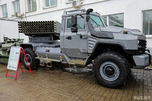Hệ thống pháo phản lực phóng loạt Flute do Belarus nghiên cứu chế tạo. Ảnh: Avia.pro.