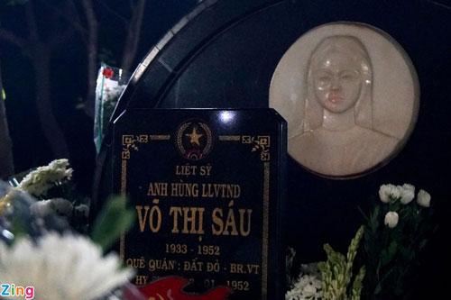 Mộ nữ anh hùng Võ Thị Sáu tại Nghĩa trang Hàng Dương. Ảnh: Zing.vn