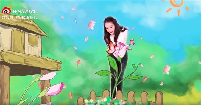 """""""Thử thách cực hạn"""" tung clip của Địch Lệ Nhiệt Ba, dáng đẹp mặt xinh giọng nói lại còn ngọt mê mẩn  - Ảnh 5."""