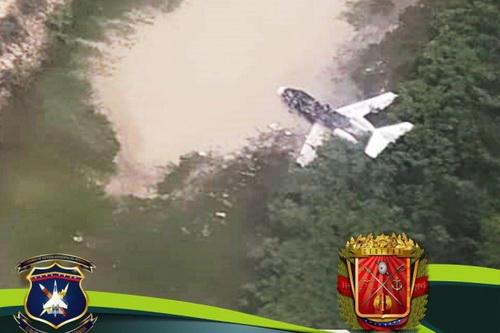 Xác chiếc máy bay bị bắn hạ khi xâm phạm không phận Venezuela. Ảnh: Avia-pro.