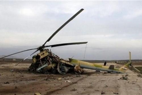 Ảnh minh họa: Một máy bay trực thăng do Nga sản xuất bị rơi. Ảnh: Avia-pro.