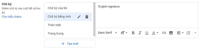 Cách tạo nhiều chữ ký trên Gmail bằng công cụ có sẵn của Google