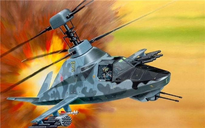 Tiết lộ trực thăng tấn công Ka-58 Bóng ma đêm mới nhất của Nga: Sát thủ tuyệt mật - Ảnh 1.