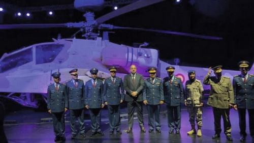 Lễ bàn giao trực thăng Boeing AH-64E Apache đầu tiên cho Không quân Qatar. Ảnh: Tập đoàn Boeing.