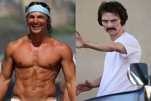 Hình thể gầy đến đáng sợ của Matthew McConaughey sau khi giảm cân.