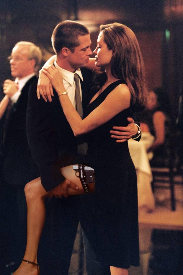 Một cảnh phim đắt giá của Pitt và Jolie trong Mr. & Mrs. Smith.