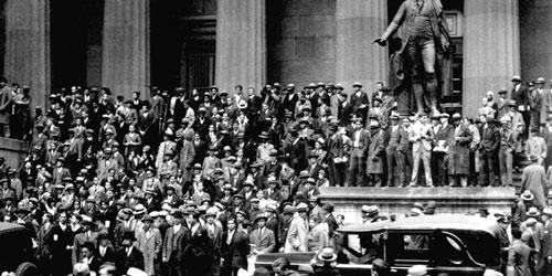 Thị trường chứng khoán phố Wall sụp đổ ngày 29/10/1929. Ảnh: AZ.