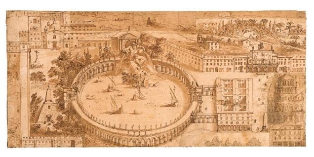 Một hình vẽ đấu trường cổ đại
