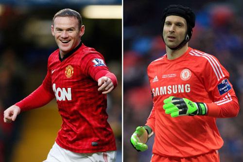 Cech (phải) ngán nhất Rooney.