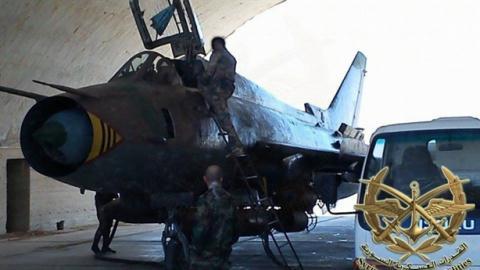 Cường kích Su-22 của Syria.