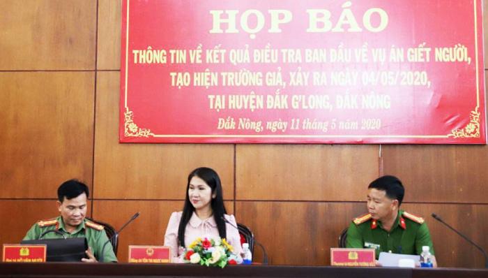 Công an tỉnh Đắk Nông tổ chức họp báo về vụ án