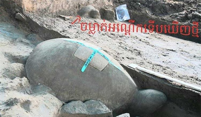 Tìm thấy tượng rùa dài một mét chìm dưới hồ chứa nước - 2