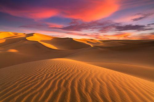 Sahara, hoang mạc lớn thứ 3 trên Trái Đất, nằm tại châu Phi với diện tích hơn 9 triệu km2 và có tuổi đời 2,5 triệu năm. Nhiệt độ trung bình ở Sahara vào mùa hè có lúc đạt tới 49 độ C. Dù thuộc top sa mạc nóng nhất hành tinh, nơi hoang vu này vẫn ẩn chứa nhiều điều thú vị khiến du khách muốn khám phá. Hoạt động cưỡi lạc đà, ngủ qua đêm trên sa mạc, ngắm bình minh hay hoàng hôn là những điều đáng giá bạn có thể trải nghiệm khi đến đây. Ảnh: Shutterstock.