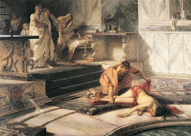 Tranh vẽ mô phỏng lại vụ vua Nero ám sát mẹ đẻ của mình.
