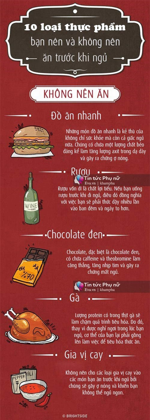 10 loại thực phẩm nên và không nên ăn trước khi ngủ - 1