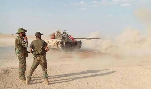 Chiến trường Tây Bắc Syria chưa khi nào im tiếng súng. Ảnh: Al Masdar News.