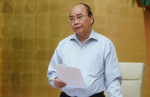 Thủ tướng Nguyễn Xuân Phúc phát biểu tại cuộc họp Thường trực Chính phủ  sáng ngày 15/5