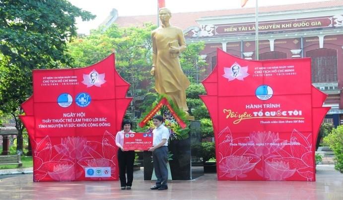 Công ty cổ phần CP tặng 340.000 quả trứng gà cho thường trực Hội Thầy thuốc trẻ Việt Nam