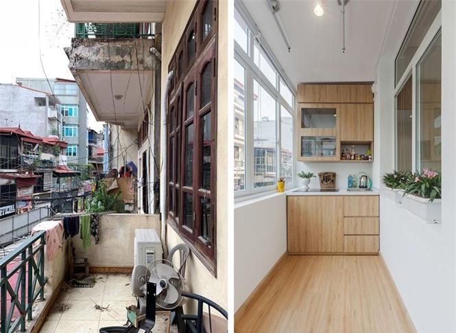 Nhà ống 3 tầng lột xác sau cải tạo, ban công thành khu bếp tuyệt đẹp - ảnh 1