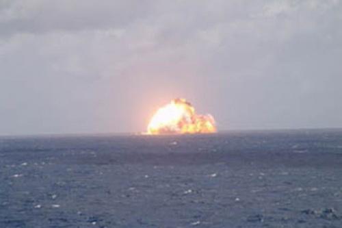Nga có thể tiêu diệt biên đội tàu sân bay Mỹ chỉ bằng một cú đánh duy nhất thông qua ngư lôi hạt nhân Poseidon. Ảnh: Lenta.ru.